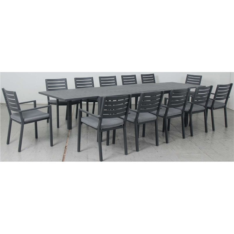 Eclipse Extension Dining Table + Mayfair Dining Chair - Gunmetal