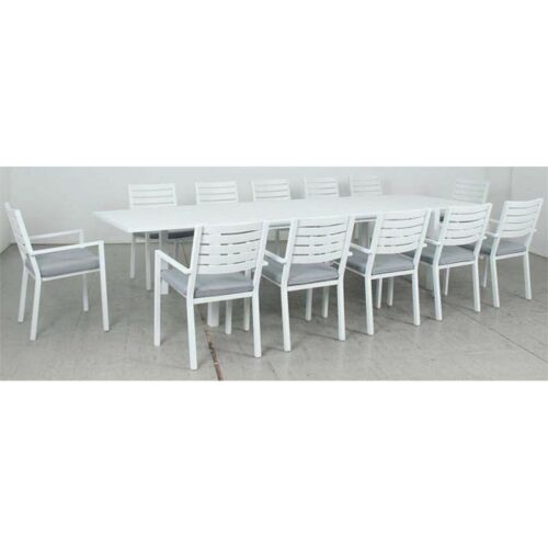 Eclipse Extension Dining Table + Mayfair Dining Chair - White