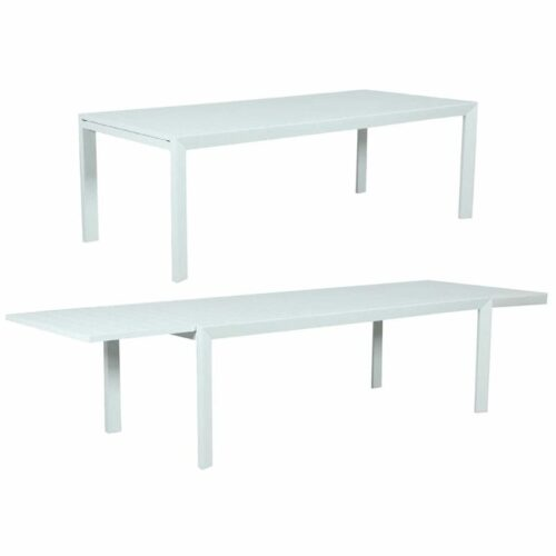Eclipse Extension Dining Table - White