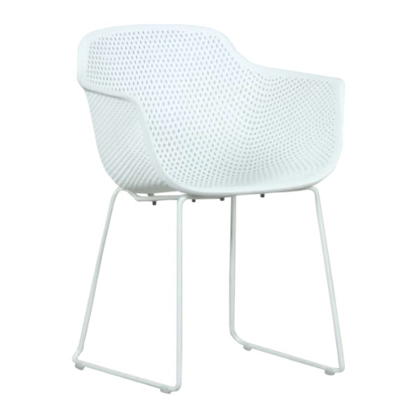 Lilac PP Dining Chair White