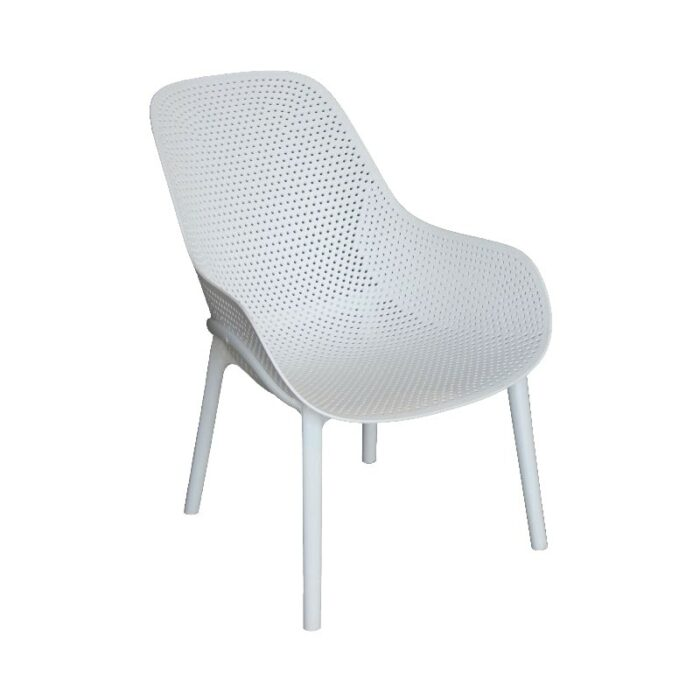 Cradle White Lounge Chair