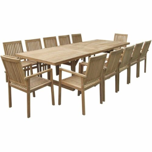 Linear Extension Table and Linear dining Chairs