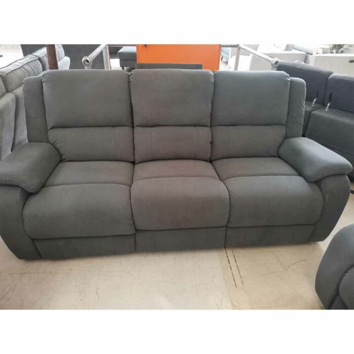 Conner 3 Seater Barcelona Fabric Ash