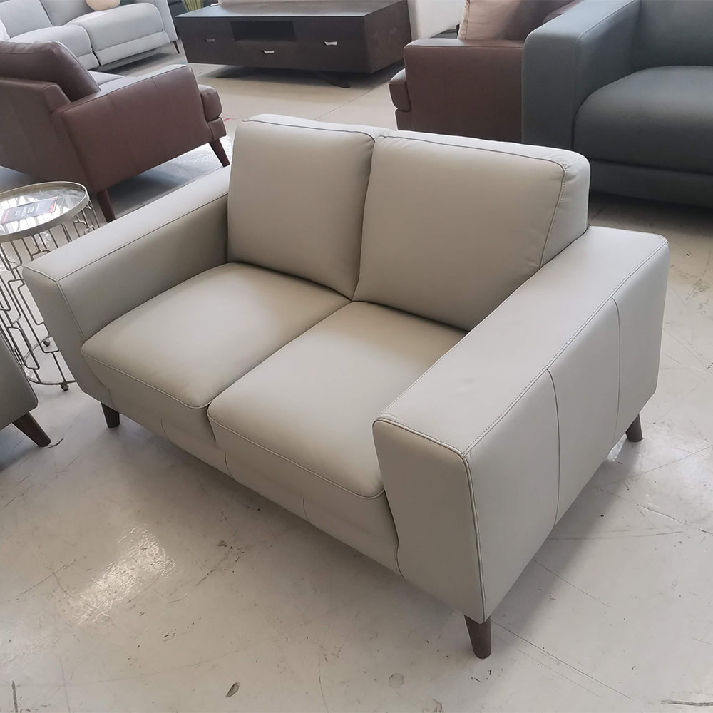 Leah 2 seater pewter